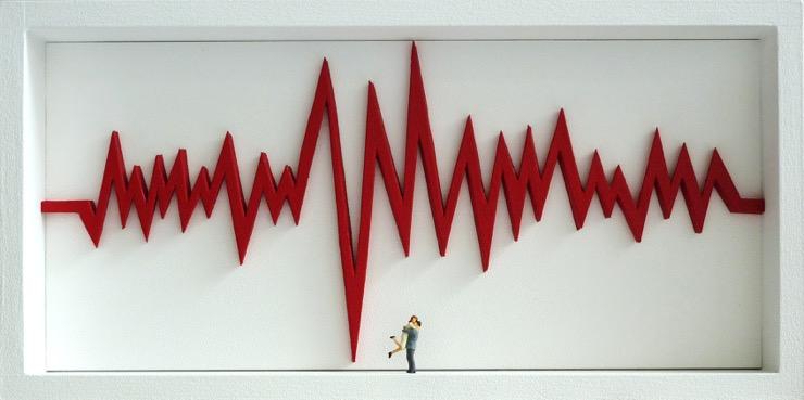ROUGE Ephémère Gallery - Gaspard MITZ - Electrocardiogram