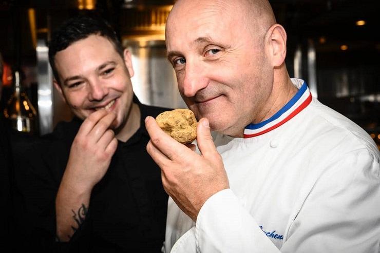 Chef Adriano Cattaneo and chef Eric Bouchenoire