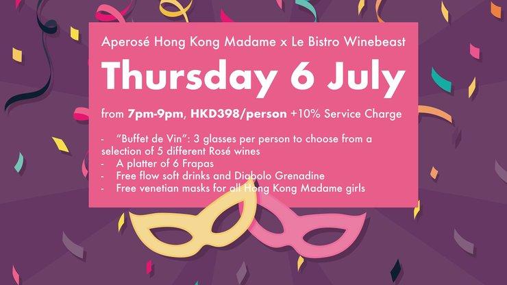 Aperosé Hong Kong Madame x Le Bistro Winebeast