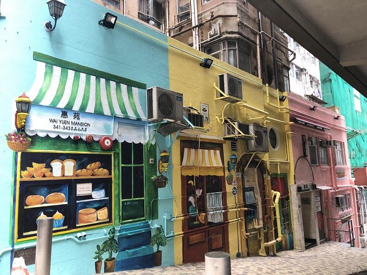 ARTLANE – un projet urbain qui met de la couleur sur les murs de Hong Kong